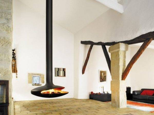 Hanging Fireplaces Beautiful Versatile Touch