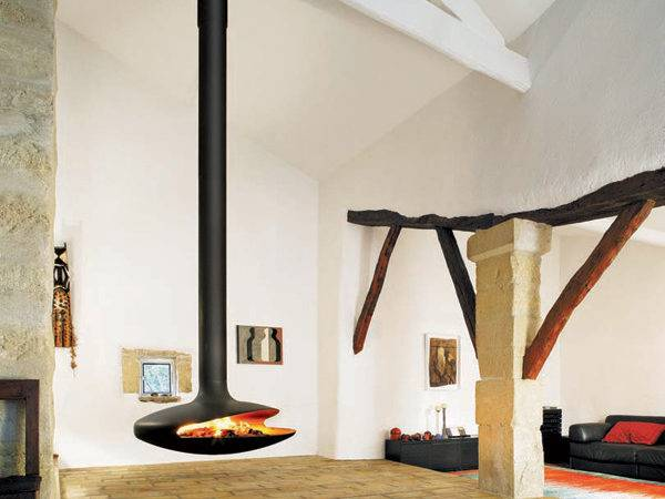 Hanging Fireplaces Suspended Fireplace Designs
