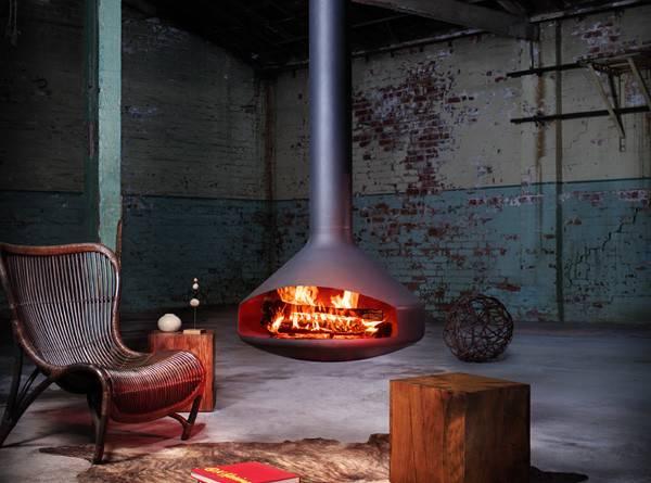 Hanging Freestanding Fireplaces Keep Warm Winter