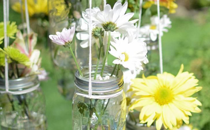Hanging Mason Jar Flower Chandelier All Things Heart