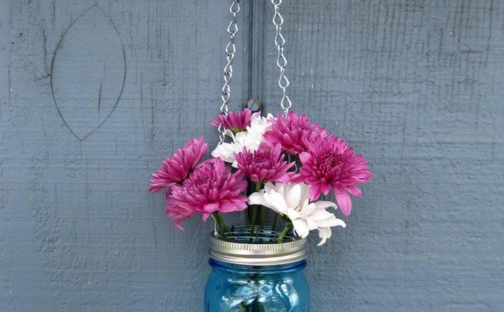Hanging Mason Jar Vase Home Decor Lighting Tickled