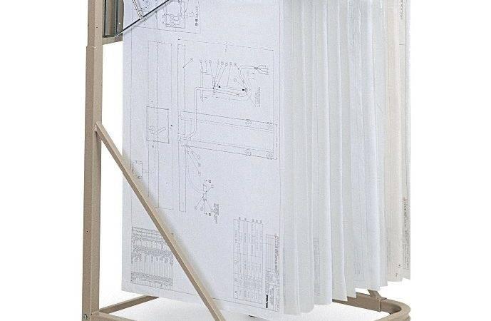 Hanging Plan Drawing Rolling Cart Vertical Mobile