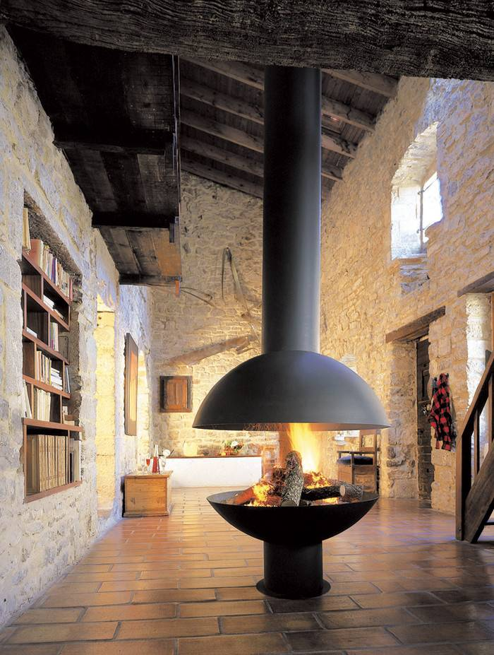 Hanging Suspended Fireplaces