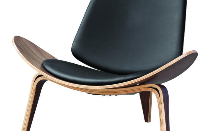 Hans Wegner Shell Style Lounge Chair Black Ebay