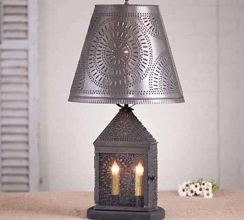 Harbor Table Lamp Shade Blackened Tin Chisel