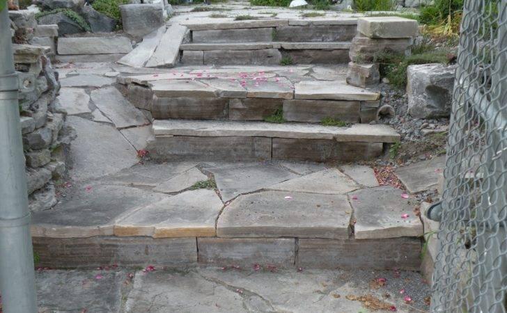 Hard Landscape Building Natural Stone Steps Gardening