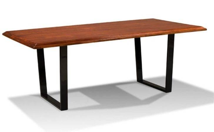 Harden Furniture Dining Room Live Edge Metal Base Table
