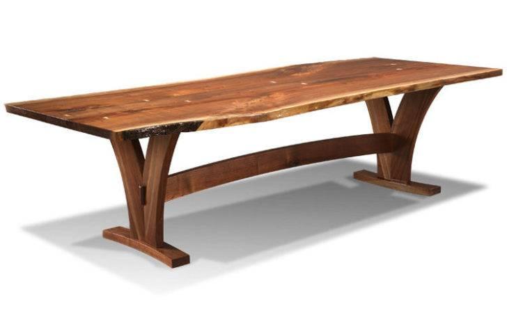 Harden Furniture Dining Room Live Edge Wood Base Table