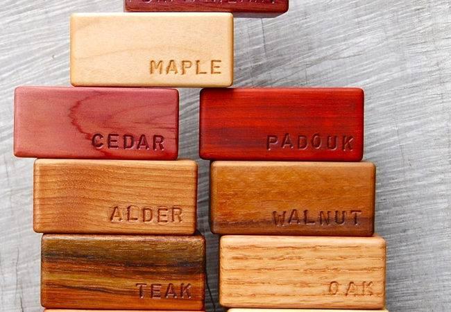 Hardwood Building Blocks Objects Desire Plenty Colour