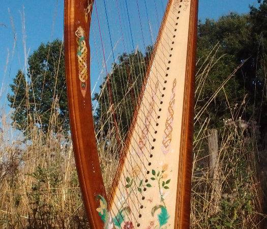 Harp Decoration Calligraf Jane Sullivan