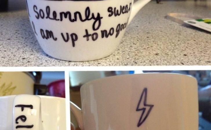 Harry Potter Diy Sharpie Mug Bake Minutes Then