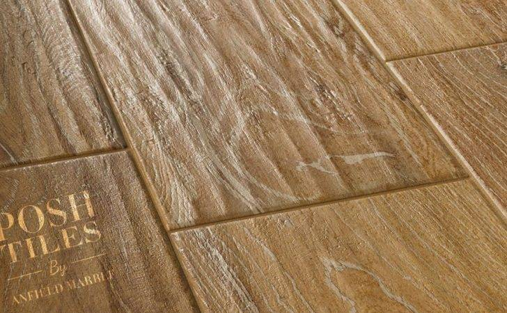 Hazel Wood Effect Porcelain Floor Tile Angle Detail Opt Posh Tiles