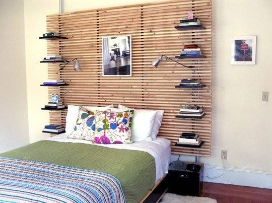 Headboard Adjustable Shelves Mandal Bed Can Easily Replace