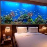 Headboard Fish Tank Bedroom Wall Bedside Table