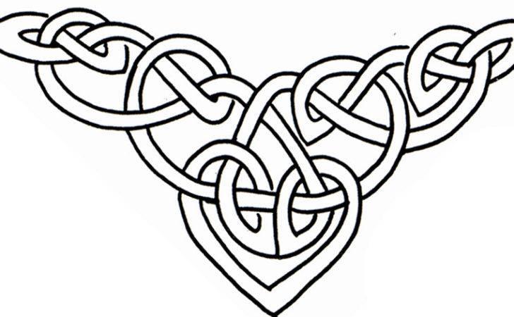 Heart Design Dover Publishing Book Celtic Designs