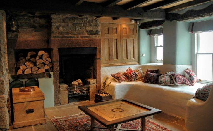 Heated Stone Seating Large Open Fireplace Yew Tree Farm