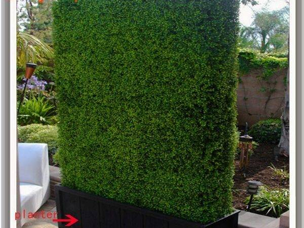 Hedge Artificial Boxwood Green
