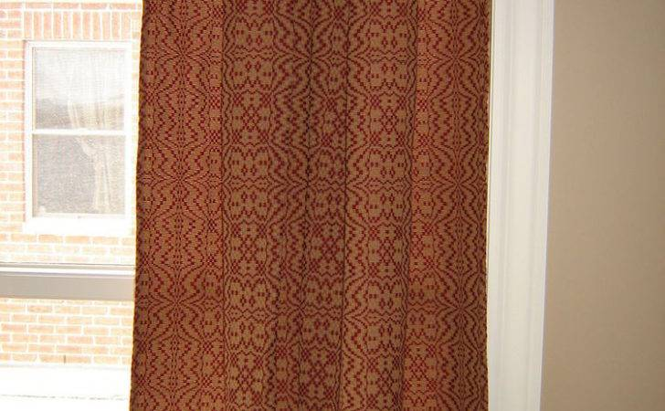 Heirloom Weavers Butterflies Sack Back Windown Panel Curtain