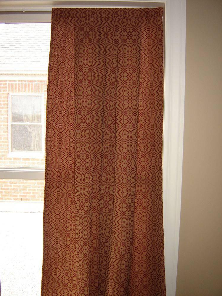 Heirloom Weavers Butterflies Sack Back Windown Panel Curtain