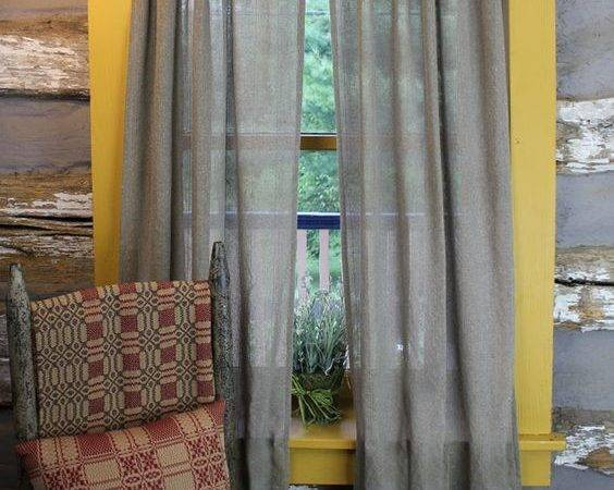 Heirloom Weavers Made Usa Madeinusa Gauze Striped Curtain