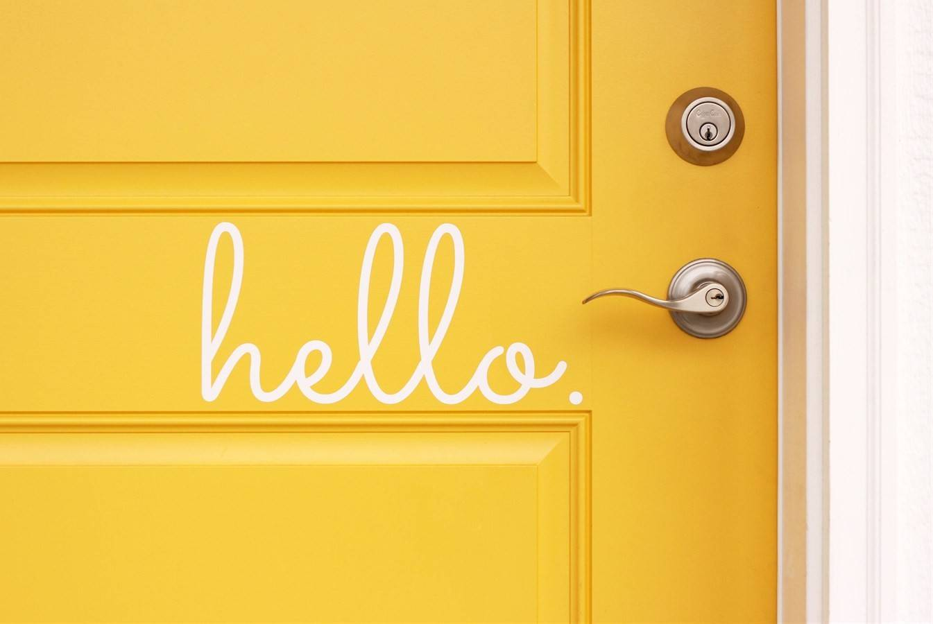 Hello Goodbye Vinyl Door Decals