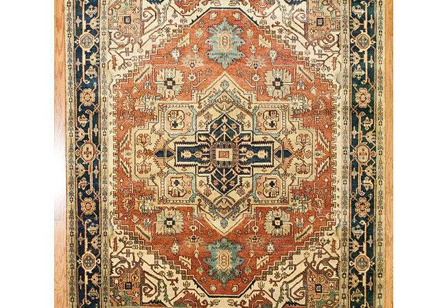 Herat Oriental Indo Hand Woven Tribal Soumak Kilim Rust Blue Wool Rug