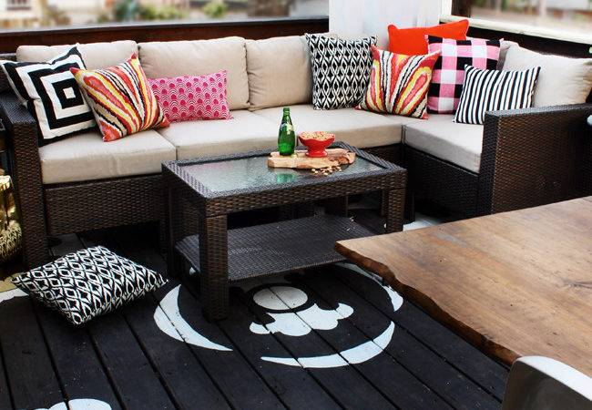 Here Home Decoration Diy Painted Deck