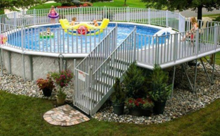Here Round Above Ground Swimming Pool Deck Steps