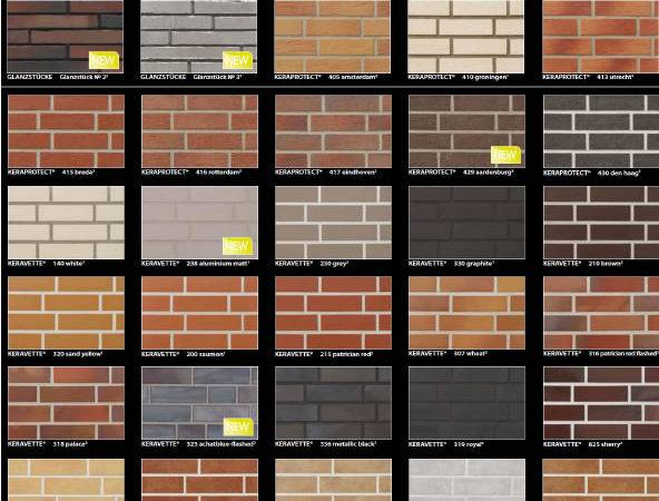 Here Stroher Latest Brick Slip Colour Chart