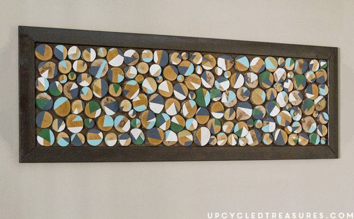 Here Wood Slice Art All Finished Hung Our Dining Room