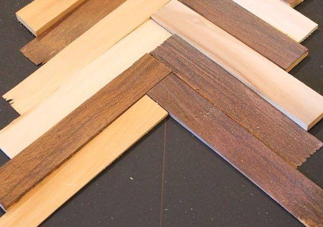 Herringbone Pattern Wall Art Using Wood Shims Hometalk