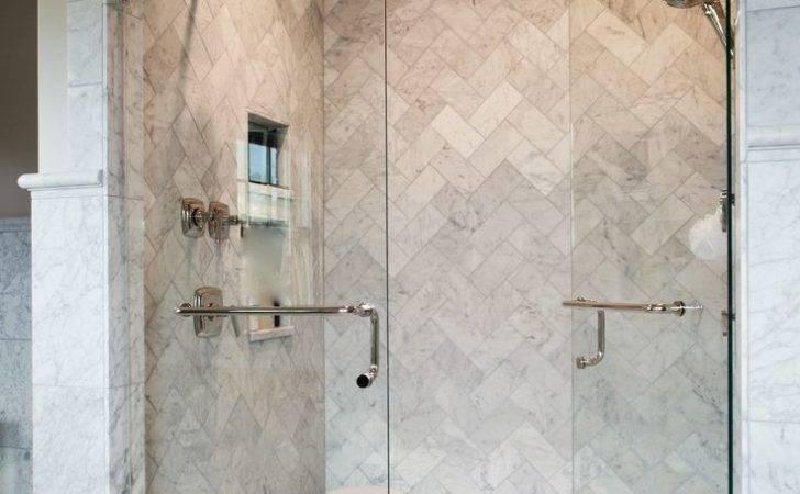 Herringbone Shower Tile Home Pinterest Tiles