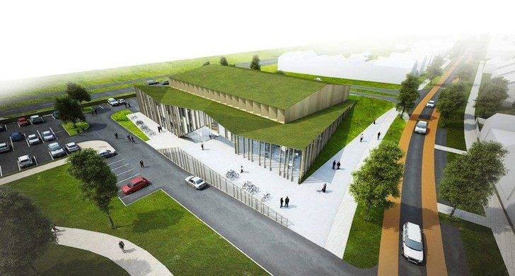 Het Anker Green Roofed Community Center Planned