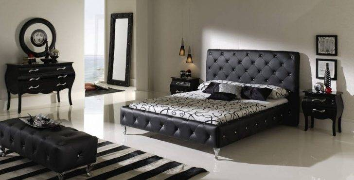High Class Black Furniture Master Bedroom Design Ideas