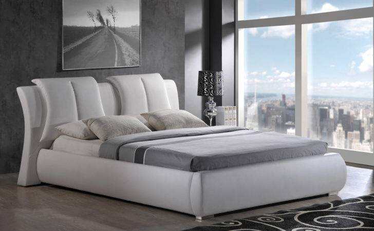 High Class Leather Luxury Platform Bed New York
