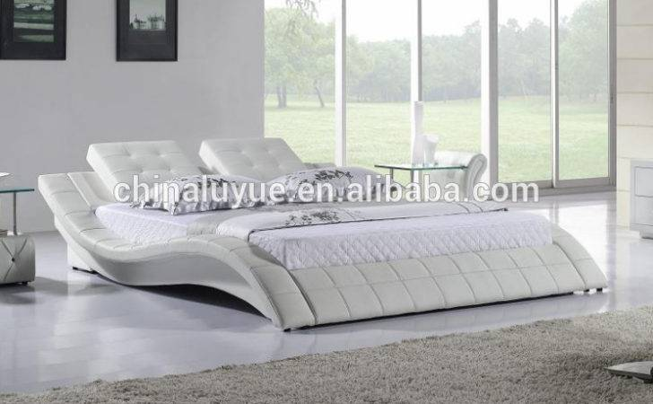High Class Modern Bedroom Furniture Soft Leather Bed