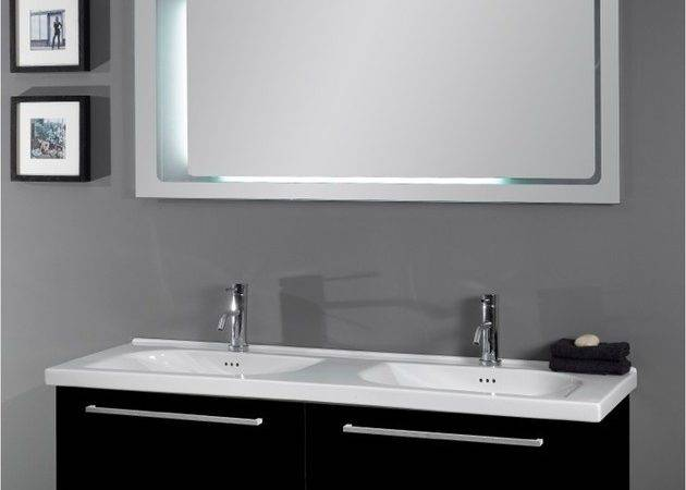 High End Dual Sink Vanity Set Contemporary Bathroom Vanities