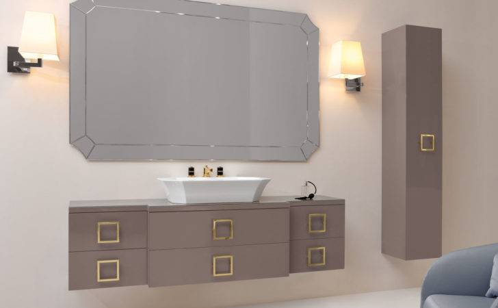 High End Floating Bathroom Vanity Square Cabinet Door Hardware