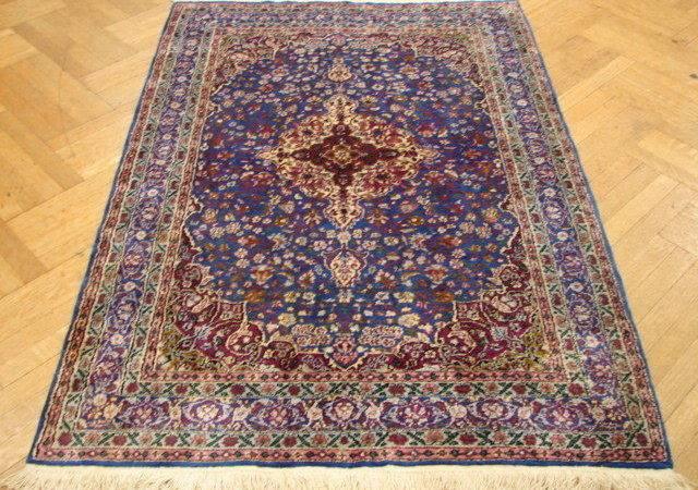 High End Handknotted Tabriz Blue Art Silk Rug Fine Carpet Ebay
