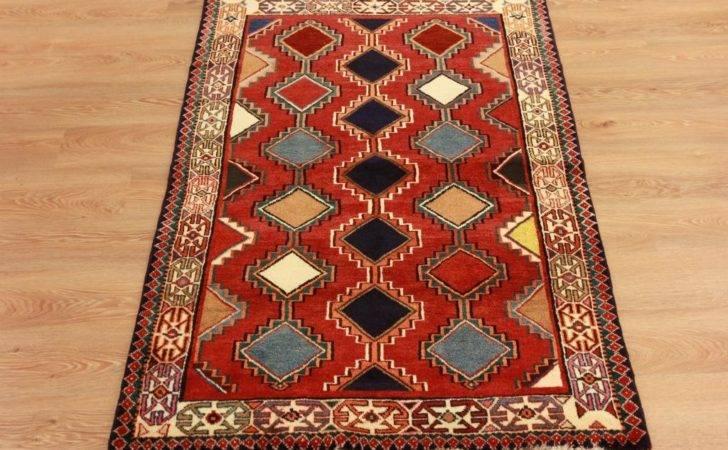 High End Handmade Oriental Carpet Red Geometric Wool Fireplace Rugs