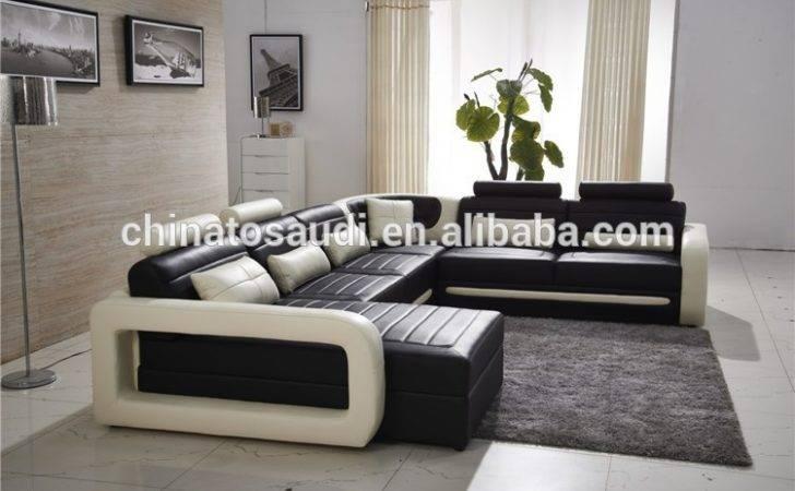 High End Modern Living Room Furniture Leather Sofa