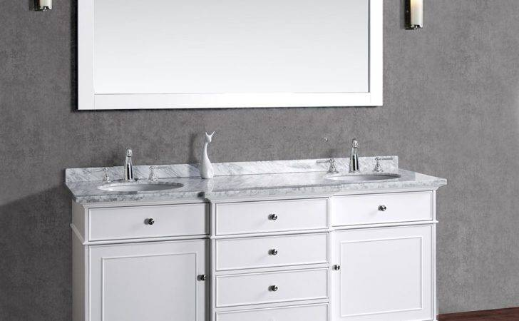 High End White Bathroom Vanities Decorating Ideas
