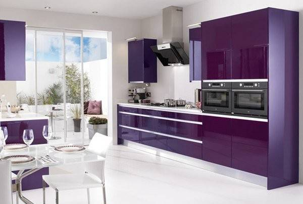 High Gloss Kitchen Designs Bold Color Choices Home Design