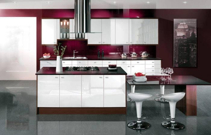 High Gloss Kitchen Designs Modular Colours
