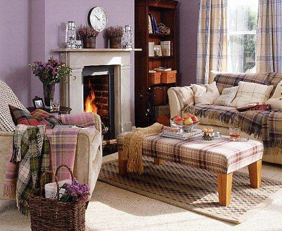 Highland Living Room Tartan Furnishings Housetohome