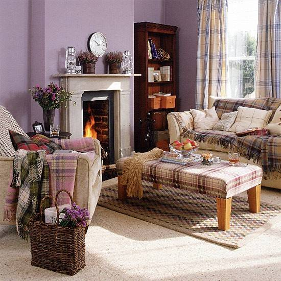 Highland Living Room Tartan Furnishings Housetohome