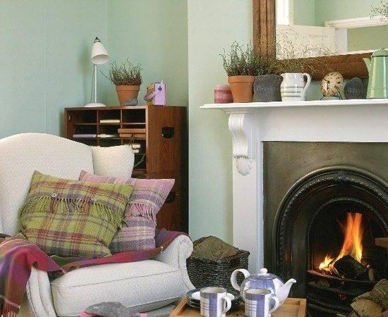 Highland Look Winter Living Room Decorating Ideas