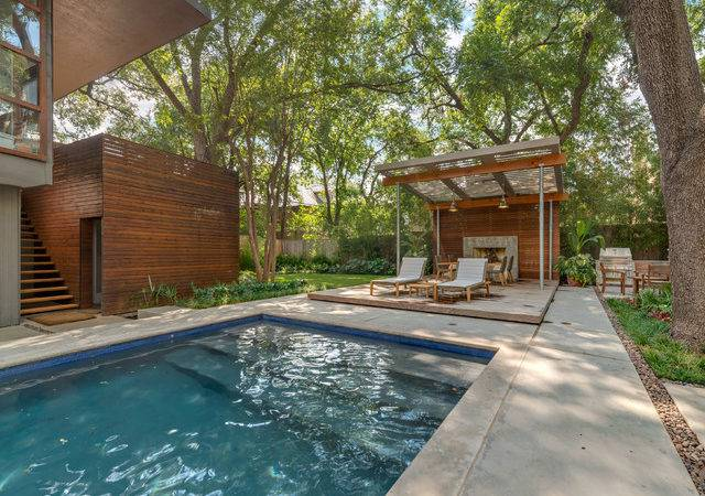 Highland Park Modern Garden Contemporary Pool Dallas