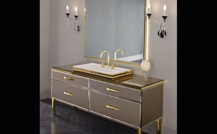 Hilton Black Lacquered Glass Luxury Italian Bathroom Vanities