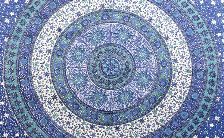 Hippie Sun Wall Hanging Moon Star Tapestry Mandala Bedspread Throw
